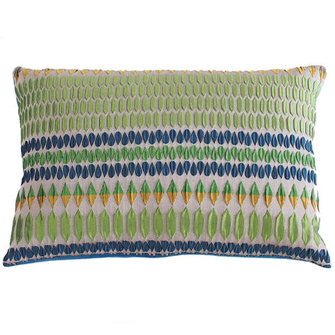 Margo Selby Kaleidoscope Collection Blue & Green Cushion