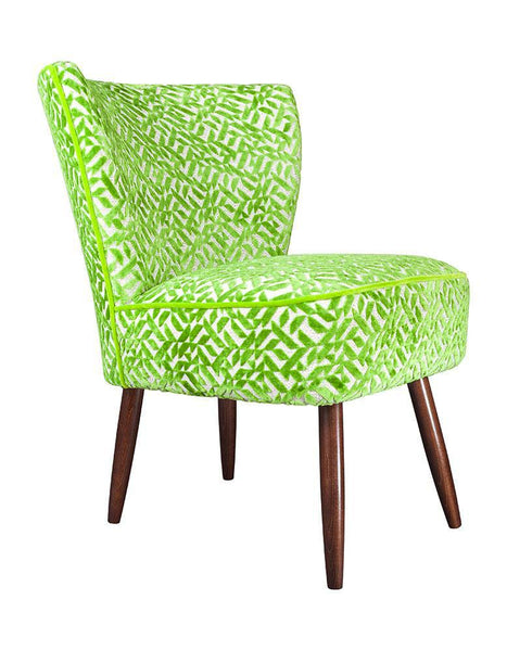 New Genovesa Cocktail Chair in Dufrene Grass Green Velvet