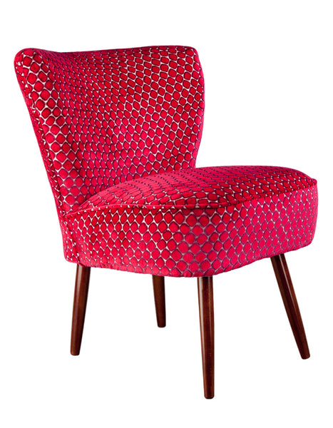 New Genovesa Cocktail Chair in Fenella Rose available at GalapagosDesignes.com