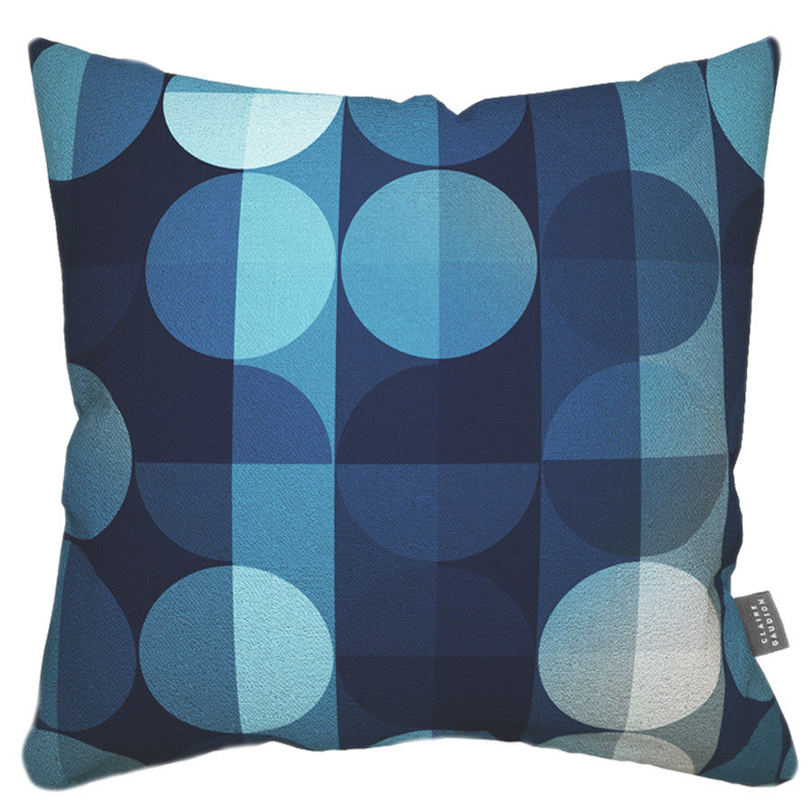 Indigo Marble Cushion by Claire Gaudion