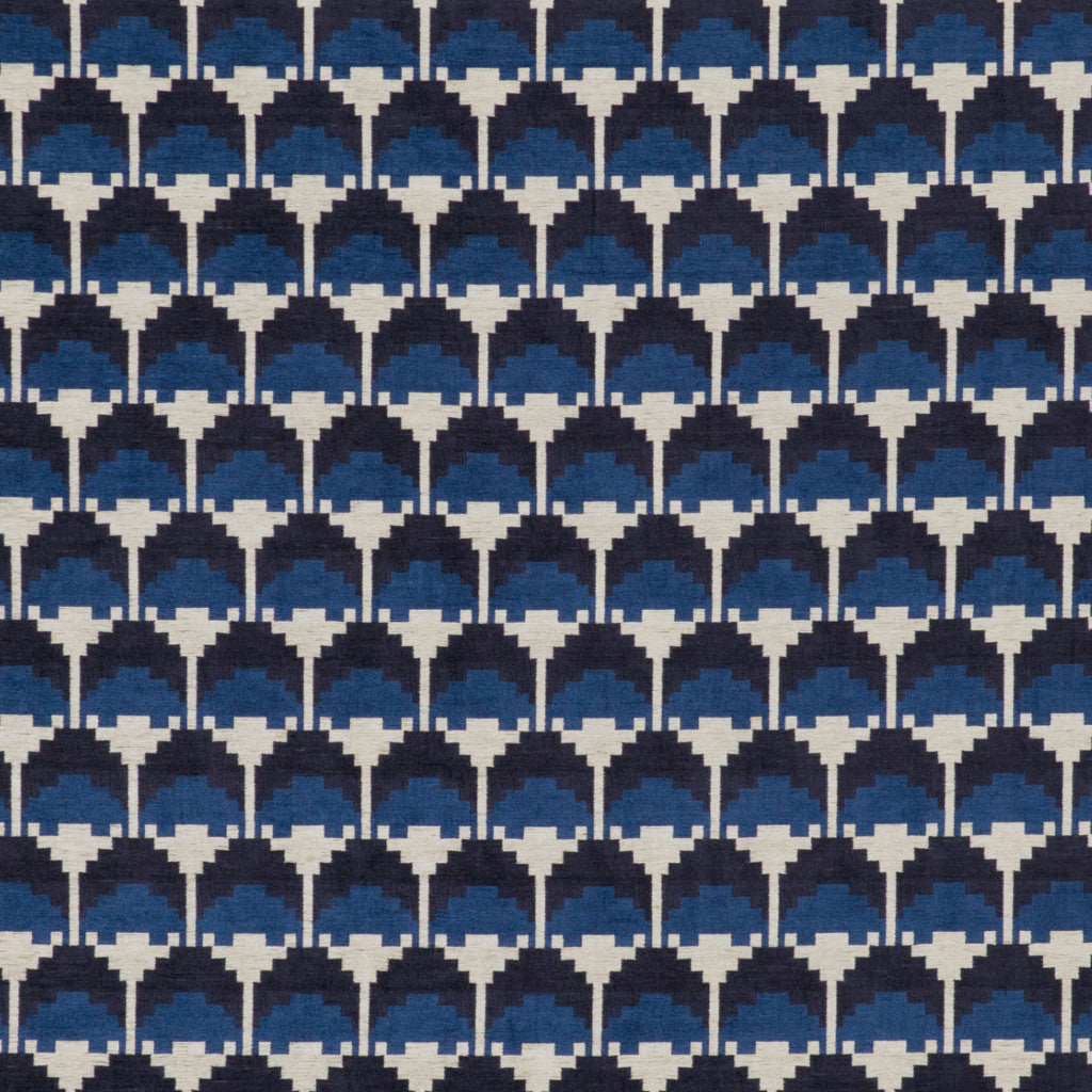 Kirkby Design Arcade Indigo Fabric Swatch - Order a Free Sample at galapagosdesigns.com!