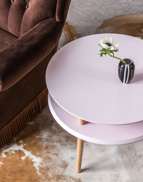 Kawa Coffee Tables in Dusky Pink