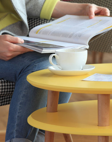 Kawa Coffee Table in Sunshine Yellow