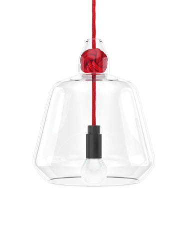 Knot Pendant Lamp in Red