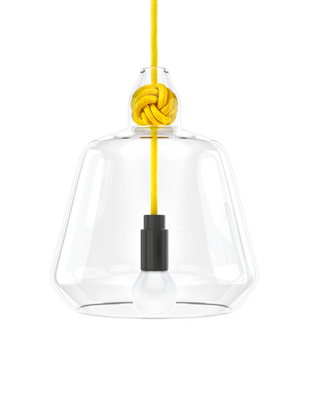 Knot Pendant Lamp in Yellow