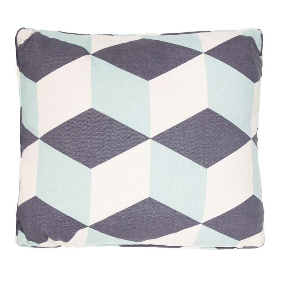 Aqua Cubes Cushion by Korla