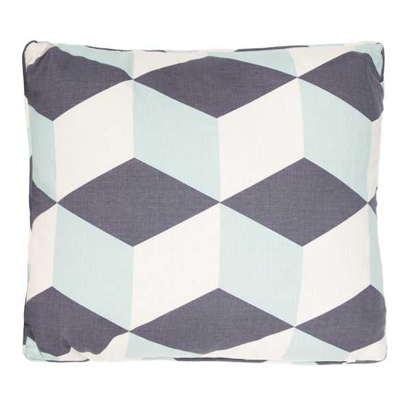 Aqua Cubes Cushion by Korla available at GalapagosDesigns.com