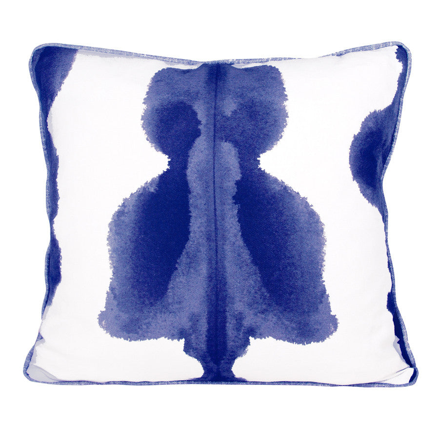 Inkat Ink Blue Cushion by Korla available at GalapagosDesigns.com