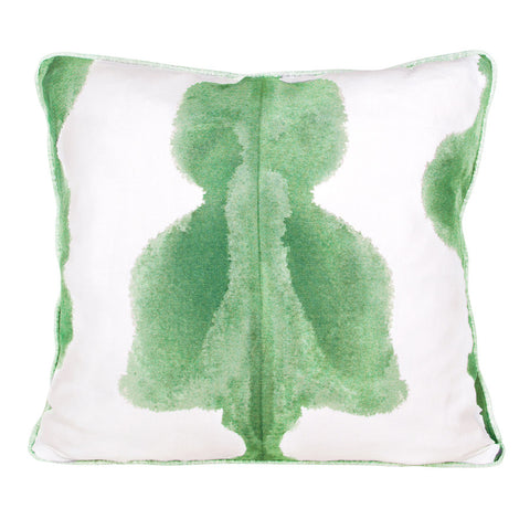 Lake Green Inkat Cushion by Korla