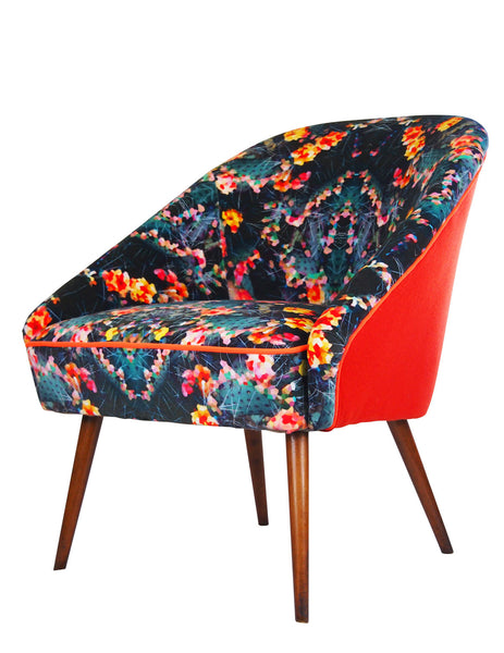 The Marchena Vintage Chair in Fierce Beauty Velvet