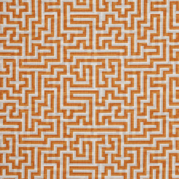 Free Fabric Samples at Galapagos - Christopher Farr Meander Orange