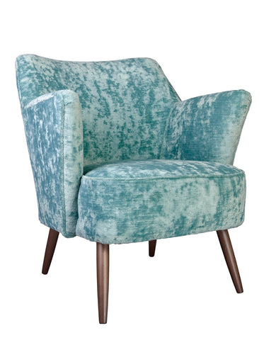 New Norfolk Chair in Vintage Velvet in Aqua