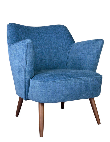 New Norfolk Chair in Indigo Artisan Linen