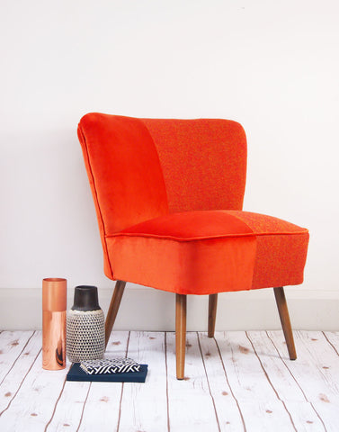 The Bartholomew Chair in Orange Bute Tweed