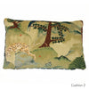 Cushions by Galapagos made with Fable Aesop velvet & Bakerloo Magnet Grey velvet - available at GalapagosDesigns.com