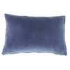 Cushions by Galapagos made with Korla Blue Black and blue velvet - available at GalapagosDesigns.com