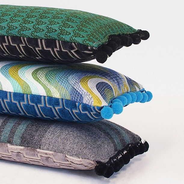 Bakerloo Velvet Bolster Cushion - Available at GalapagosDesigns.com