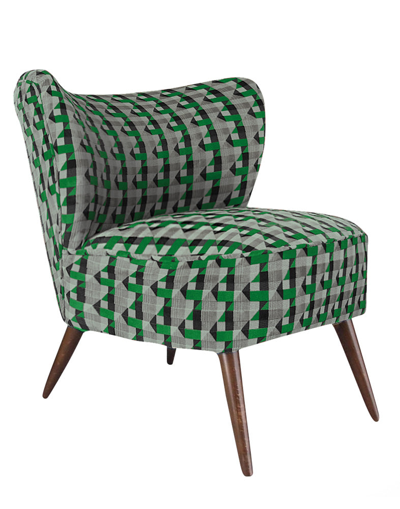 New Bartholomew Vintage Style Cocktail Chair in Piccadilly Eden Green