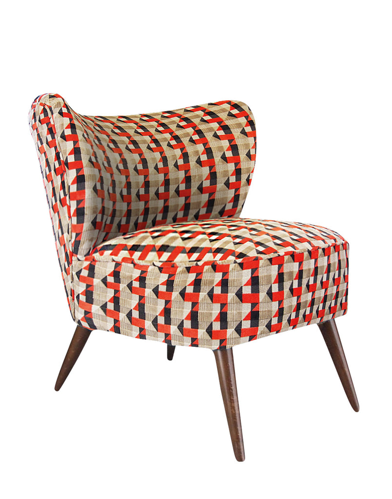 New Bartholomew Vintage Style Cocktail Chair in Piccadilly Orange