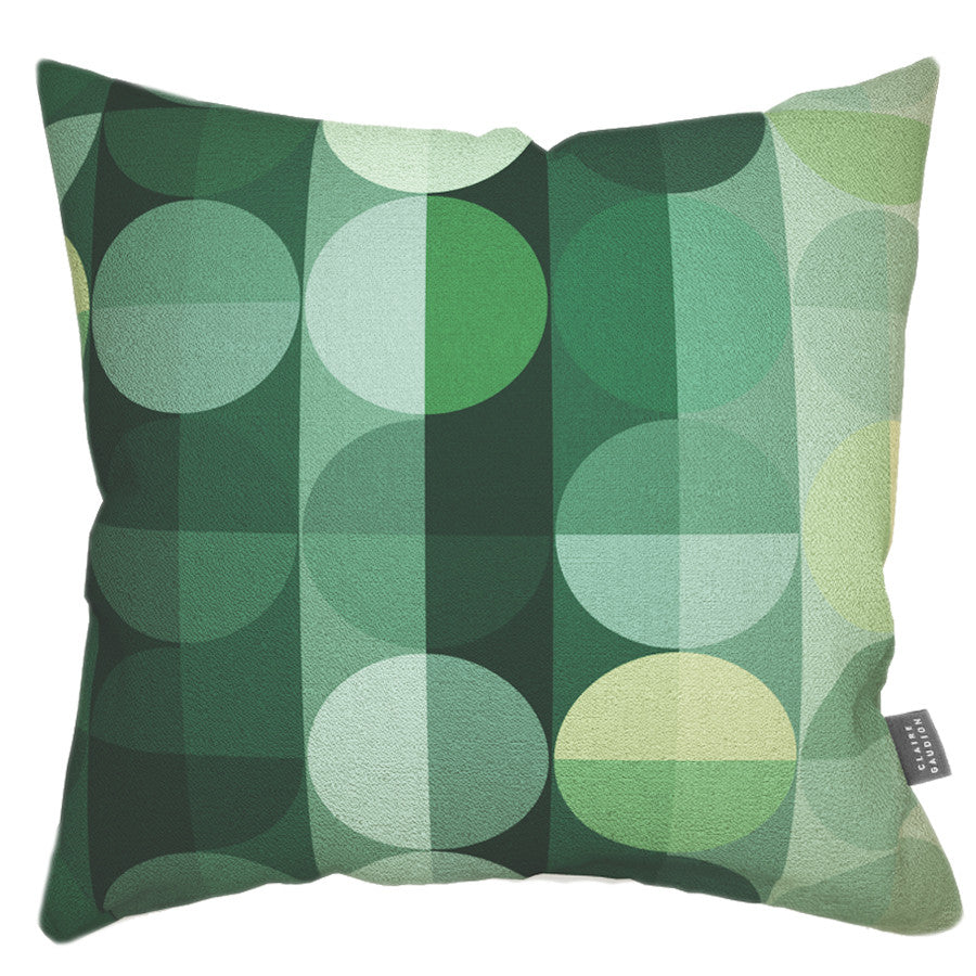 Sage Two Cotton Cushion by Claire Gaudion