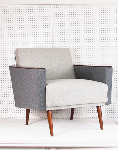 Santiago Vintage Armchair in Two Tone Wool
