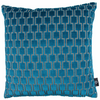 Baker loo Kingfisher Teal Cushion by Kirkby Designs