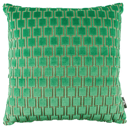 Bakerloo Eden Green Cushion by Kirkby Designs available at GalapagosDesigns.com