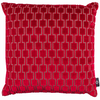 Bakerloo Ruby Red Cushion by Kirkby Designs