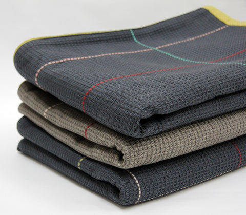 Charcoal Navy Throw by WAFFLE