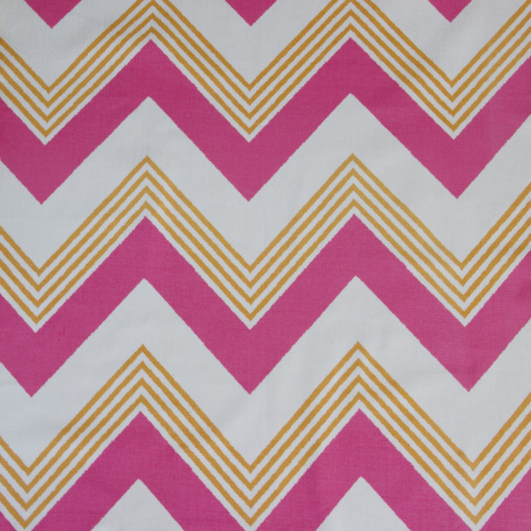 Korla Grand Zig Zag Pro Pink & Ayres Rock - order a free fabric sample at GalapagosDesigns.com!