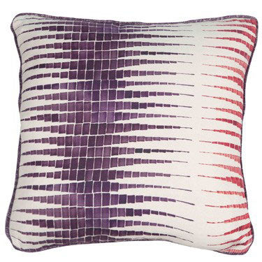 Alana Aubergine & Brick Cushion by Korla - Available at Galapagosdesigns.com