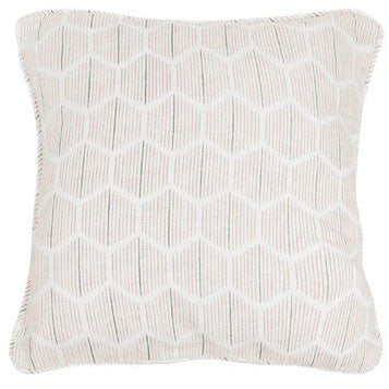 Asali Chalk Pink & Steel Cushion by Korla