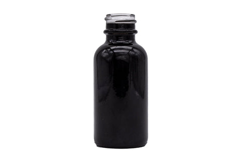 Gloss Black Boston Round Bottles Only 20mm (288 QTY)