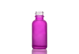 1oz Frosted Purple Boston Round Glass Bottle & DripTrap Dropper Assembly Set