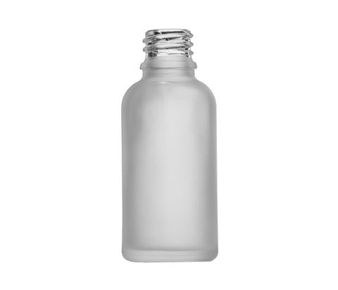 30mL Frosted Clear Euro Round Glass Bottle