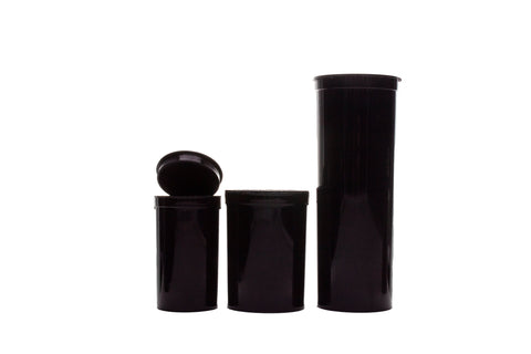 Child Resistant Pop Tops-Black (Varied count cases)