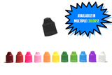 LDPE Boston Round Bottles- Tamper Evident/Child Resistant  (100 count-Includes Caps & Tips)