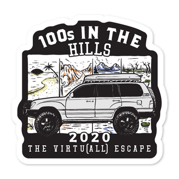 100s IN THE HILLS - 2020 VIRTU[ALL] - (STICKER)