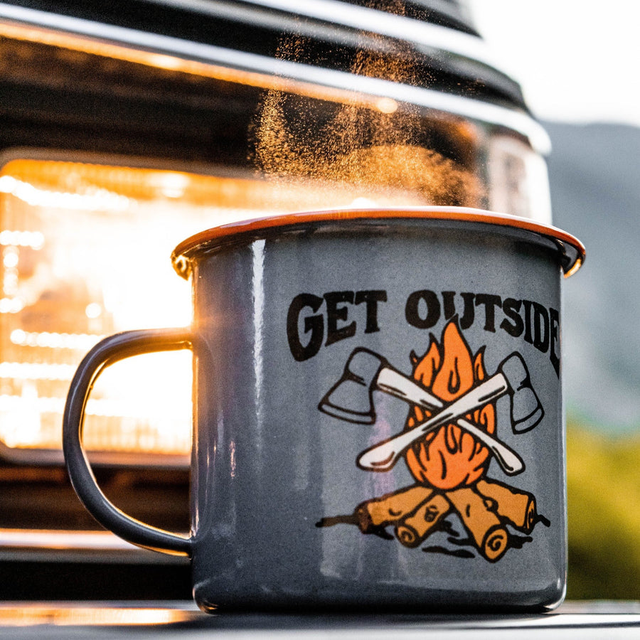GET OUTSIDE - ENAMEL CAMP MUG