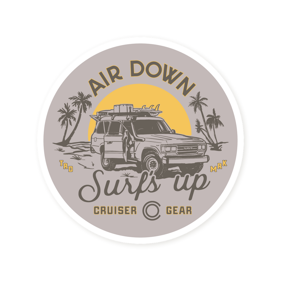 AIR DOWN, SURF'S UP (STICKER)