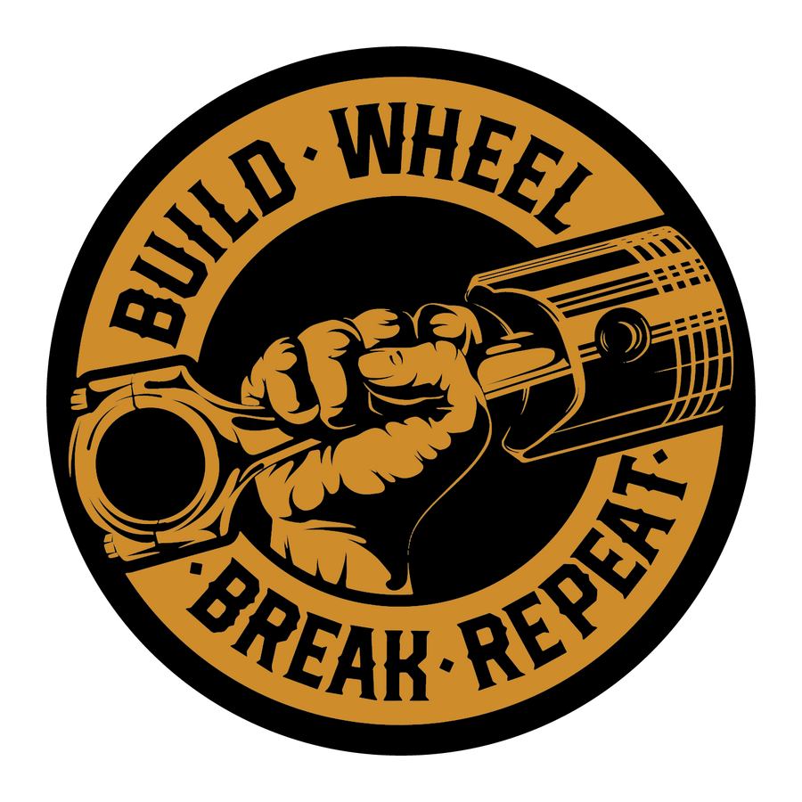 Build, Wheel, Break, Repeat (STICKER)