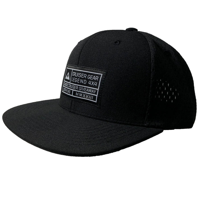 Giveaway Grid Hat - Black Jersey Snapback