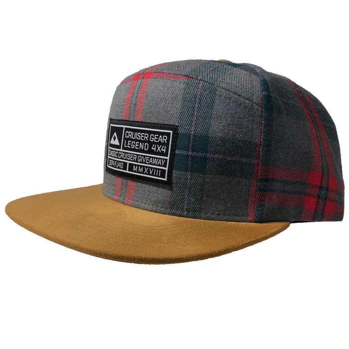 Giveaway Grid Hat - Flannel Snapback