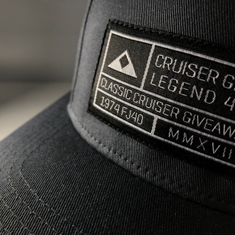 Giveaway Grid Hat - 5 Panel Camper