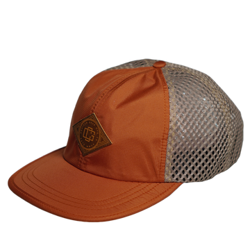 LEATHER STAMP HAT - BURNT ORANGE