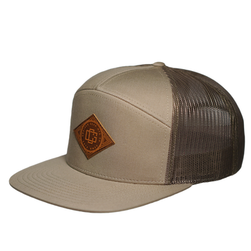 LEATHER STAMP HAT - KHAKI
