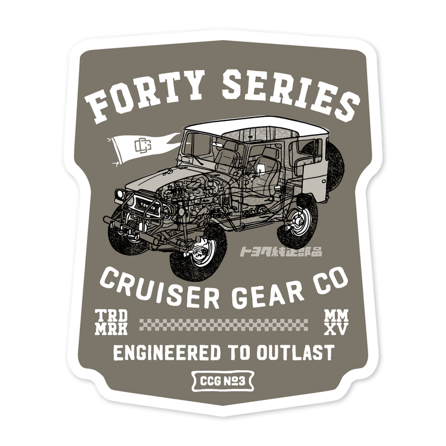 CCG#3 - FJ40 LAUNCH (STICKER)