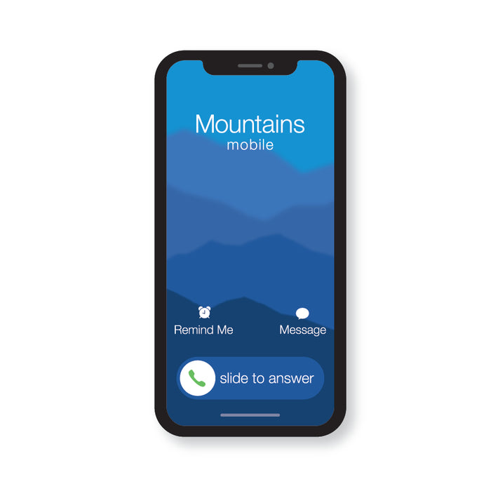The Mountains Are Calling - The Call V1.2 (STICKER)
