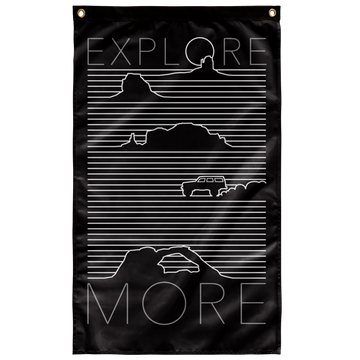 EXPLORE MORE - DESERT - WALL FLAG