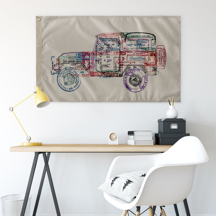 PASSPORT FOR ADVENTURE - 40 SERIES - WALL FLAG